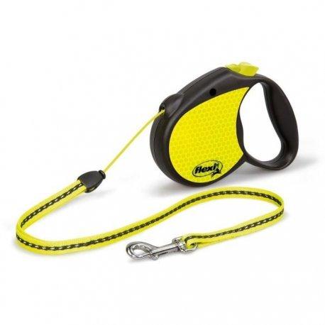 Record Flexi versenkbare führen Neon ausziehbaren Kabel Hund Hundeleine, klein (Hundeleine Reflektierend Versenkbare)
