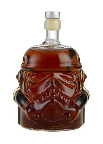 Bayram Stormtrooper Glas Karaffe aus Star-Wars | Getränke Flasche mit Korken - Ideal als Geschenk -...