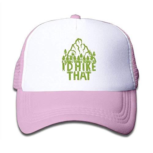 Cutakuzvmru Kids I'd Hike That Hiking Nature Mountain Mesh Cap Baseball Cap Plain Hat