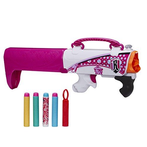 Nerf - Rebelle, Arma segreta, Pistola-borsetta a 4 colpi, colore: Rosa