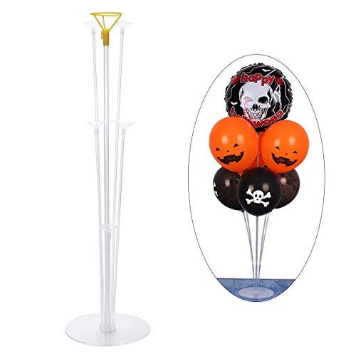 Luftballons Ständer,Tisch Ballon Stand mit Kunststoff-Sticks und Halter Tassen für Party Dekoration (Kunststoff-stick-halter)