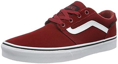 Vans Herren Chapman Stripe Low-Top, Rot (Varsity Red/Black), 44 EU