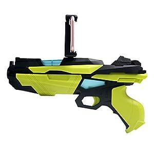 Prtukytt Mobile Spiel AR Pistole Augmented-Reality-Controller Griff und Stoßwelle, 4D somatosensorischen Mimik Reale fotografierten Szene Gesundheit und umweltfreundliche Material Ergonomie