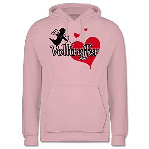 Shirtracer Valentinstag - Volltreffer - S - Hellrosa - JH001 - Herren Hoodie
