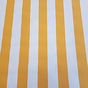 Stoff-Kollektion Stoff Meterware Markisenstoff Blockstreifen gelb weiß gestreift UV beständig Sichtschutz