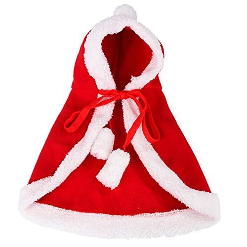 Slibrat Haustier Hund Weihnachten Halloween Umhang mit Kapuze Schal-Katze Hundekostüm Versorgung - Katze Hunde Paare Kostüm