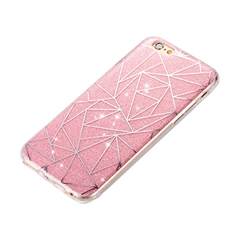 iPhone 6S Hülle,iPhone 6 Hülle,iPhone 6 6S Silikon Hülle [Kratzfeste, Scratch-Resistant], Saincat iPhone 6 6S Hülle TPU Case Schutzhülle Silikon Crystal Kirstall Clear Case Durchsichtig,Beautiful Rosa Glitter Plating-Rosa