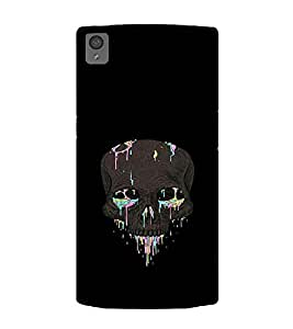 Printtech One Plus X Back Cover Skull Abstract Printed Case