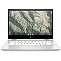 HP Chromebook x360 14b-ca0010nf PC Ultraportable Convertible et Tactile 14'' HD Blanc (Intel Pentium Silver, RAM 4 Go, eMMC 64 Go, AZERTY, Chrome OS)