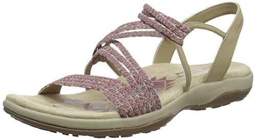 Skechers reggae slim-stretch appeal, sandali con cinturino alla caviglia donna, rosa (raspberry ras), 38 eu