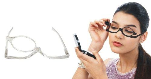 Schminkbrille Klar Sehstärke 3,5 dpt Make Up Brille Schminkhilfe zum schminken Karneval Schminke Verkleidung