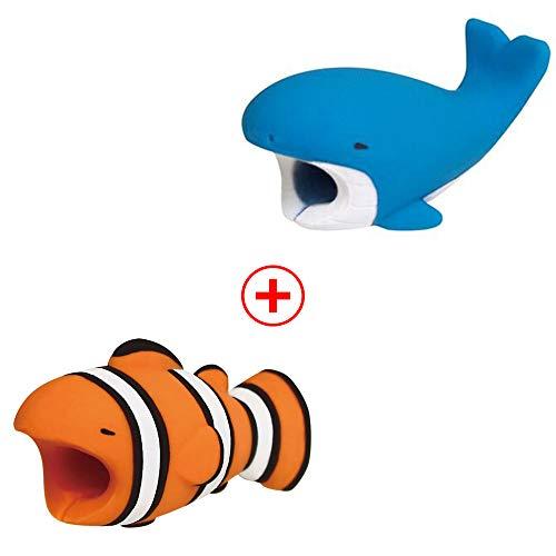 Holeider Telefon-Ladekabel schützt Zubehör Tier Cute Handyhülle Kabel Biss für iPhone Kabel Schnur Handy-Ladeleitung Schützt vor Biege-Pause (B+B)