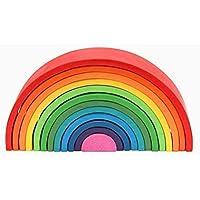 Arcoiris de madera de 12 arcos. Juguetes Educativos. Aprendizaje para niños.