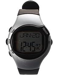 SODIAL(R) Silberfarbend Fitness-Uhr Pulsmesser Pulsuhr Herzfrequenzmesser Uhr