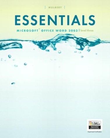 Essentials: Microsoft Word 2003 Level 3