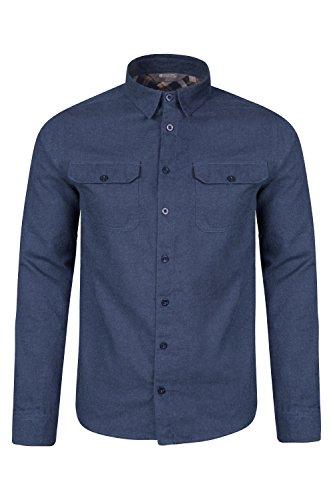 Mountain Warehouse Camicia da Uomo a Maniche Lunghe in Flanella Track Blu M