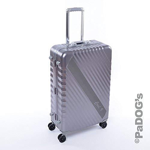 Cool-9 Aluminium-Reisekoffer dunkel grau L, 92 Liter, mit TSA Schloß