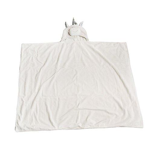 ZZYOU Weich Einhorn Decke Umhang für Erwachsene und Kinder Niedlich Vlies Flanell Decke (Einhorn)