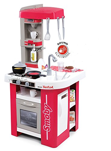 Smoby 311022 Tefal Studio Küche, Rot, Spielküche, 48 x 46,5 x 99 cm