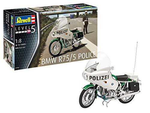 Revell 07940 BMW R75/5 Polizei Motorrad originalgetreuer Modellbausatz für Experten, 1:8/25,6 cm, 1/8