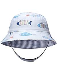 Ateid Sombrero de Sol Reversible para Bebés Niño 6-48 Meses