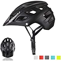 Exclusky Mountain Bike Helmet, Easy Attached Visor Safety Protection Comfortable Lightweight Cycling Mountain & Road Bicycle Helmets for Adult Men Women