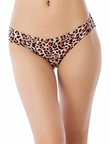 Höschen Womans Fair Vanity (iB-iP Damen Cotton Layered Leopard Sehen Durch Niedrige Leibhöhe Bikini Höschen, größe: M, Leopard)