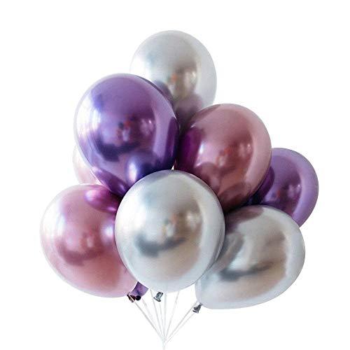 Leegoal [9 Piezas] Globos Látex para Cumpleaños de Colores Diversos, Decoración de...