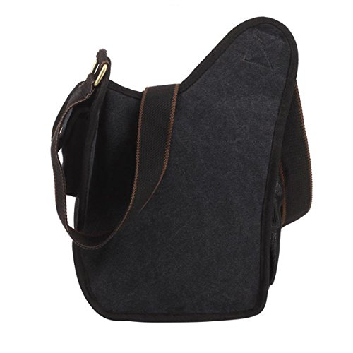 41E19wKhLGL. SS500  - S-ZONE Mens Vintage Canvas PU Leather Military Utility Shoulder Messenger Bags