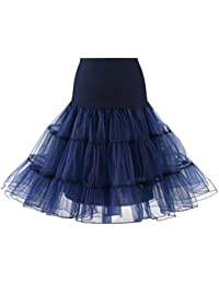 Fathoit Jupon années 50 Vintage en Tulle Rockabilly Les Femmes PlisséEs Jupe Courte Haute Taille Adulte Jupe De Danse Tutu