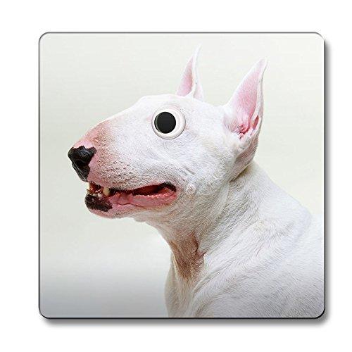 Bull Terrier Dog Googley Eyes Animal Untersetzer 060