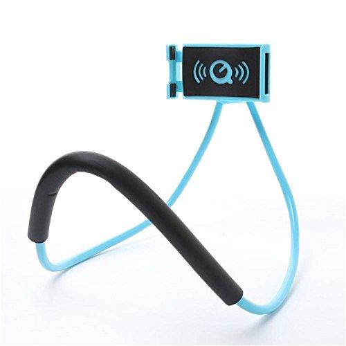 Yiwa Handy-Halterung zum Aufhängen, 360 Grad drehbar, flexibel, für iPhone und Samsung, blau