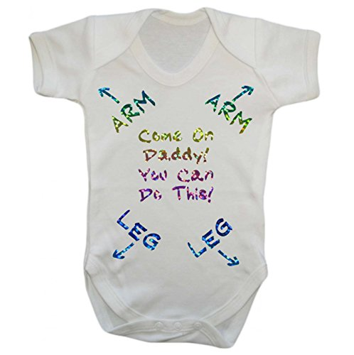 the T bird Come On Daddy You Can Do this - New Dad - baby grow vest bodysuit onesie (0 - 3 months)