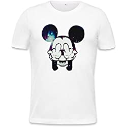 Mickey Mouse Fuck Off Mens T-shirt Large