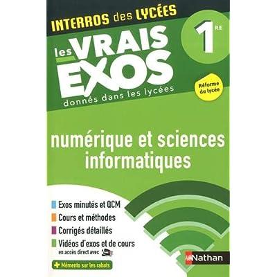 Interros des Lycées Numérique et Sciences Informatiques (NSI) 1re - Les vrais exos - Nouveau Bac