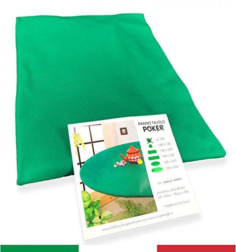 copritavolo Chiffon Jeu Cartes Poker Vert Protection Table torsadé qualité extra – cm.140 x 140 carré