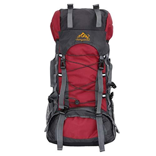 Monllack 60L große Kapazität im Freien Bergsteigen-Rucksack-interne Rahmen-Schultertasche -