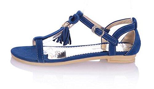 Quaste Damen Sandalen Blau