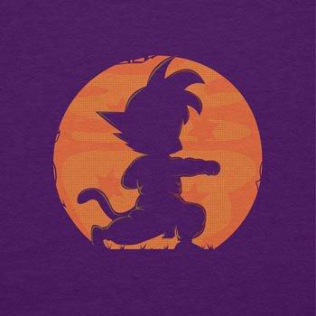 NERDO - Goku Fighting Pose - Damen T-Shirt Violett