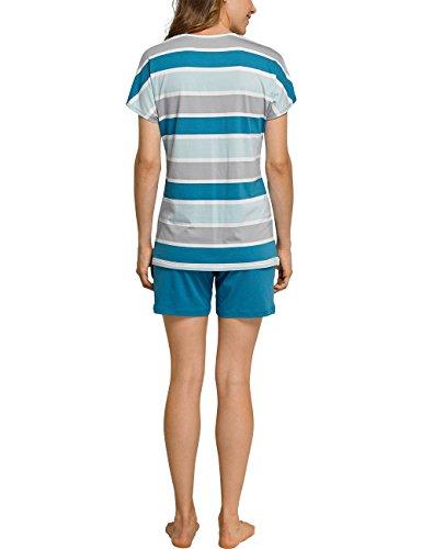 Schiesser Damen Zweiteiliger Schlafanzug Mehrfarbig (Multicolor 904)
