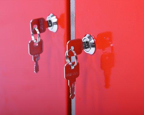 Ondis24 Werkbank abschließbar Werktisch Montagewerkbank Werkstatttisch rot mit Türen - 4