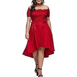 Lover-Beauty Mujer Plus Size Sexy con Cuello En V Vestido De Boho De Fiesta De Noche De Mujer Vestido De Playa SeñOras Vestido Maxi Floral con Cuello En V para Mujer Tallas Grandes