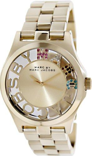 Marc Jacobs Women's 40mm Gold-Tone Steel Bracelet & Case Quartz Analog Watch MBM3263
