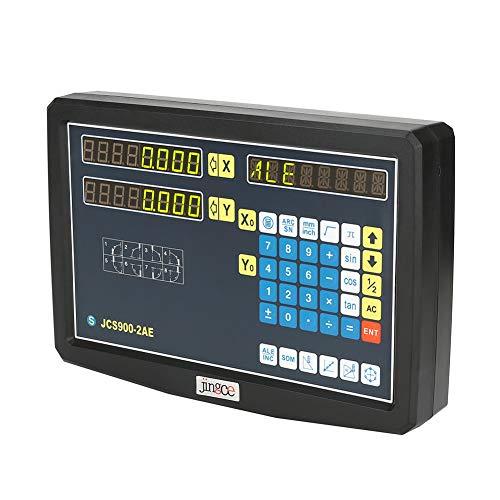 VBESTLIFE 2-Achsen-Digitalanzeige und 2 Lineareinheiten JCS900-2AE DRO-Kit für Schleifmaschinen(200mm/700mm) 200 Mm Kit