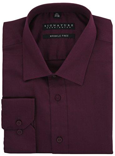 Signature Luxury Sateen regular fit camicia senza grinze Violet