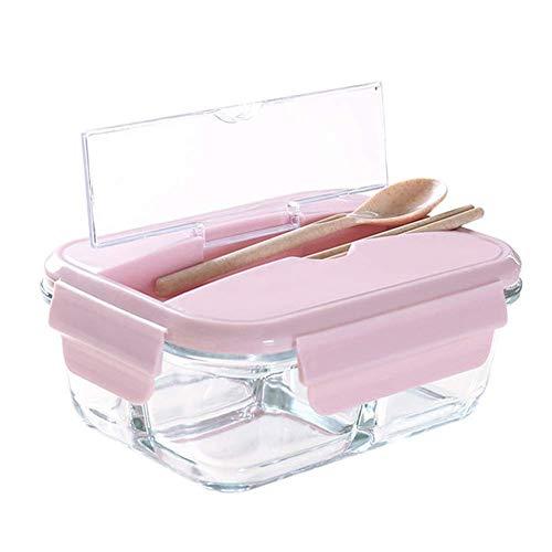 Sntsya Frischhaltedosen Glas Lunchbox Luftdicht Auslaufsicher mit fächern Ofen Mikrowellengeeignet sicher für Gefrierschrank