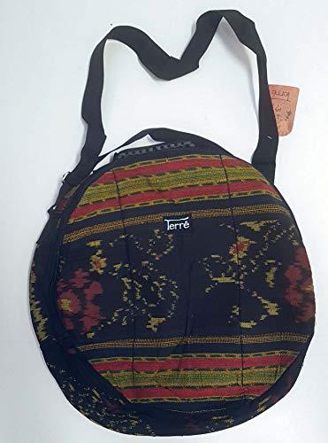 Shamandrum Tasche aus Ikat Ø 40 cm Schamanentrommel Rund Ritual Drum Trageriemen