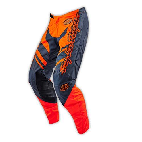 Troy Lee Designs GP Flexion MX-Hose, Farbe grau-orange, Größe 32 - Lee An Der Taille Hose