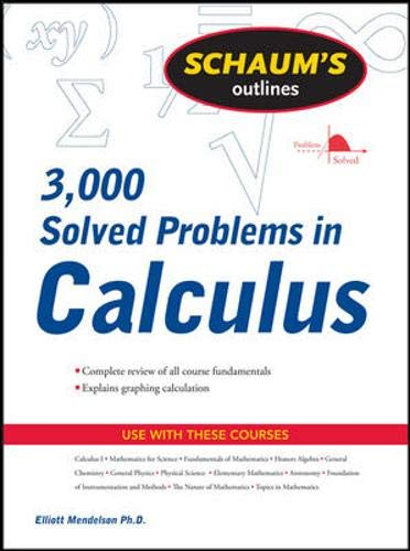 Schaum's 3,000 Solved Problems in Calculus (Schaums Outlines)