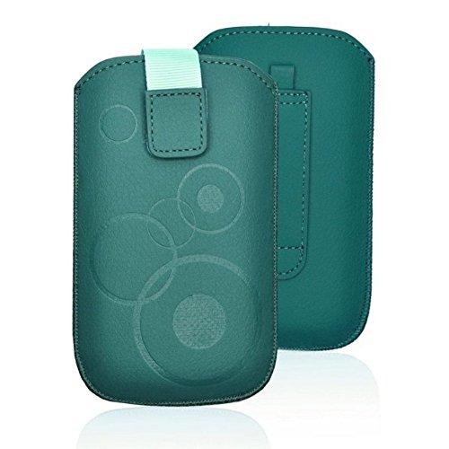 tag-24 Handy Tasche Deko Etui Schutzhülle passend für LG WineSmart petrol